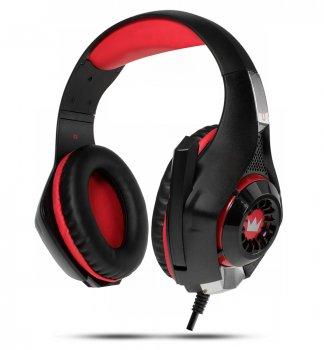 Навушники Crown CMGH-102T USB Red
