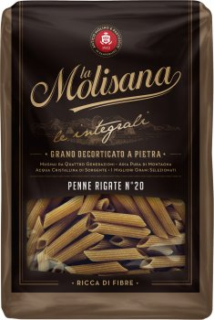 Макарони La Molisana Penne Rigate Integrali №20 500 г (8004690612002)