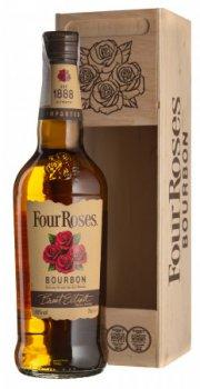 Бурбон Four Roses 0.7 л 40% в деревянной упаковке (2135685356857)