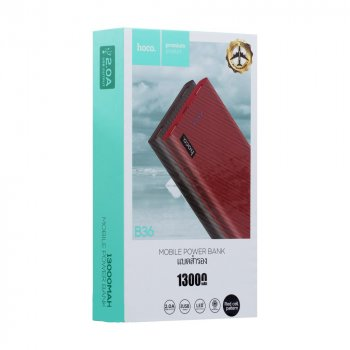 УМБ Hoco B36 Wooden mobile УМБ(13000mAh) Red Cell Pattern