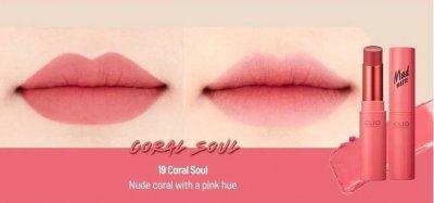 Помада CLIO Mad Matte Lips 019 Coral Soul