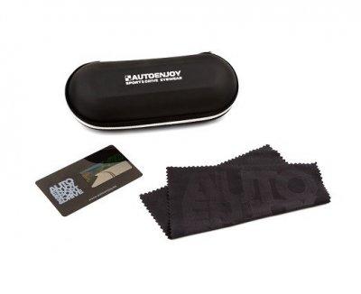 Твердый футляр и салфетка Autoenjoy для очков из микрофибры черный