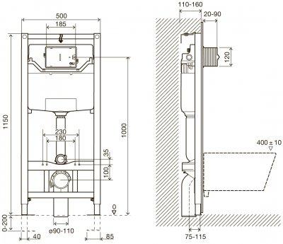 Инсталляция IMPRESE i8120 + панель смыва Pan хром + унитаз подвесной VOLLE Solar Rimless 13-93-363 с сиденьем Slim Soft Close 13-93-053