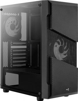 Корпус Aerocool Menace RGB-G-BK-V1 Tempered Glass Black