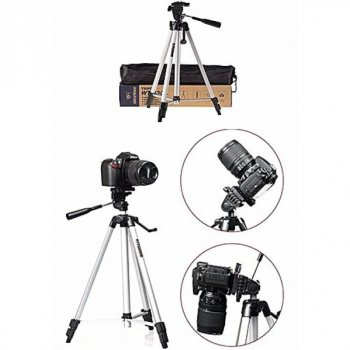 Штатив телескопический профессиональный для камеры и телефона трипод Weifeng 330А