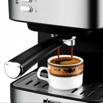 Кофеварка рожковая DSP KA-3028 для экспрессо полуавтоматическая с капучинатором 850 Вт Серебристая (11077)