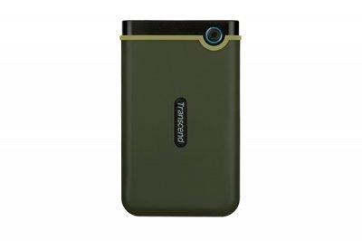 """Зовнішній жорсткий диск HDD 2.5"""" USB 3.0, 2Tb Transcend StoreJet 25M3 Military Green Slim (TS2TSJ25M3G)"""