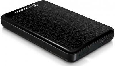 """Зовнішній жорсткий диск HDD 2.5"""" USB 3.0, 2TB Transcend Portable Black (TS2TSJ25A3K)"""