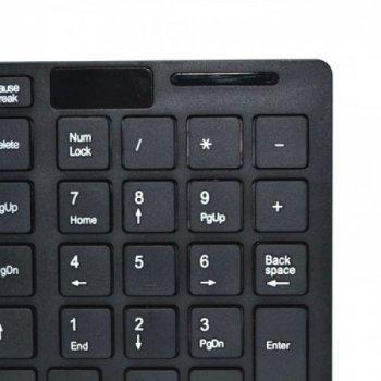 Комплект бездротова клавіатура + миша російська розкладка 101 клавіша UKC (ДО-06)Чорний