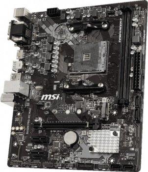 Мат. плата MB MSI B450M PRO-MAX M2 (B450/sAM4/2xDDR4 3466(OC)/1хРСІе x16/2хРСІе x1/1x M. 2 Socket 3/4xSATA3/RAID 0,1,10/GLan/DVI, HDMI, D-SUB, 4xUSB3.2, 2xUSB2.0/Audio 7.1 Ch/mATX)