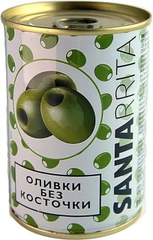 Оливки Santarrita без косточек 280 г (8436024297539)