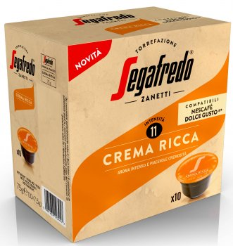 Кава в капсулах Segafredo Crema Ricca Dolce Gusto 10 шт. x 7.5 г (8003410247920)