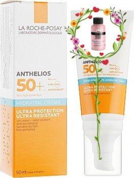 Крем для лица Солнцезащитный увлажняющий крем для лица и кожи вокруг глаз La Roche-Posay Anthelios Ultra Cream SPF 50+ 50 мл (3337875588560)