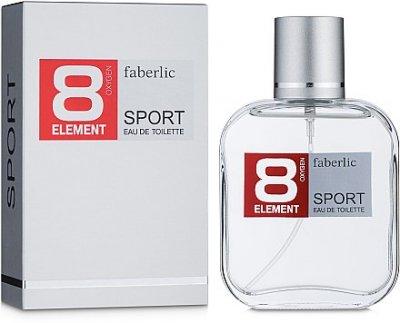 Мужская парфюмерия Туалетная вода Faberlic 8 Element Sport man edt 100ml (4690302155018)