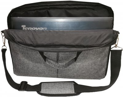 """Сумка для ноутбука Kodor Power Oxford 600D 15.6"""" Grey (Н0013)"""