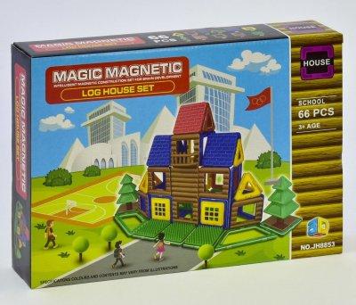 Магнитный конструктор Школа Magic Magnetic JH8853 66 деталей