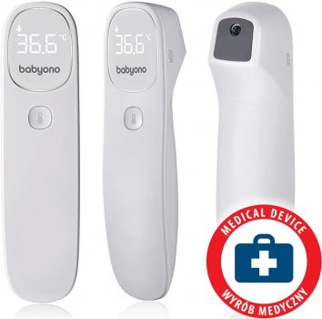 Безконтактний електронний термометр Babyono Nautral Nursing 790 (284276) (5901435411292)