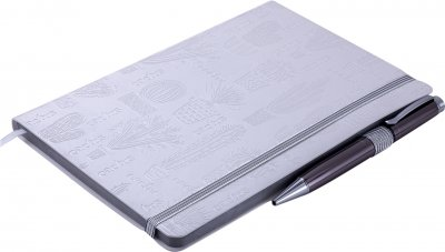 Деловой блокнот Buromax Planet A5 в точку 96 листов обложка из искусственной кожи Бежевый (BM.295312-28)