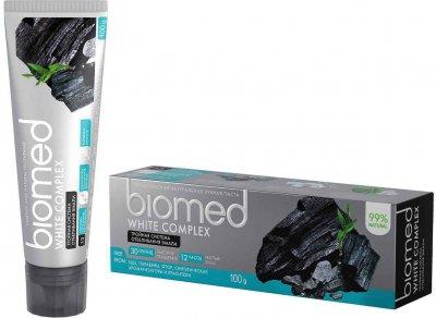 Упаковка зубной пасты защита от бактерий и кариеса BioMed White Complex 100 мл х 2 шт (4601212312320)
