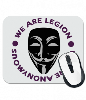 Коврик для мыши Маска Анонимуса - We Are Legion