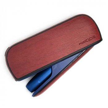 Чохол IQOS 3/3 DUO WOOD SKIN + бічна панель RED