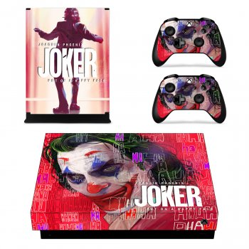 Вінілові наклейки на Xbox One X і Gamepad Joker Custom Skin Playsole Vinyls (PV4024)