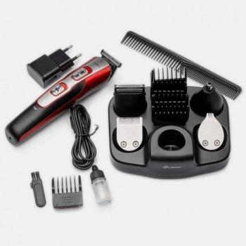 Професійна машинка для стрижки волосся Gemei GM 592 10 в 1 Червоний/Чорний