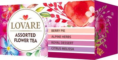 Упаковка чая Lovare цветочного Ассорти 2 пачки 4 вида по 6 пакетиков (2000006781277)