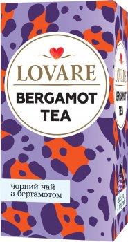 Упаковка чая Lovare черного Bergamot tea с ароматом бергамота и мандарина 2 пачки по 24 пакетиков (2000006781321)