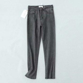 Джинси жіночі Straight Fit Gray Berni Fashion Сірий (54486)