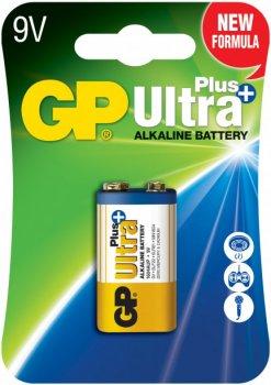 Щелочная батарейка GP Ultra Plus Alkaline 9V 1604AUP-U1 6LF22 (4891199100420)