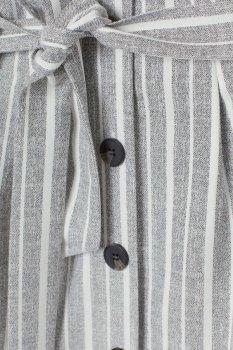 Спідниця H&M 7154749 Сіро-біла смужка