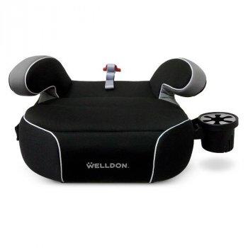 Автокрісло-бустер Welldon Penguin Pad підлокітники, підсклянник чорний AFK PG08-P02-001