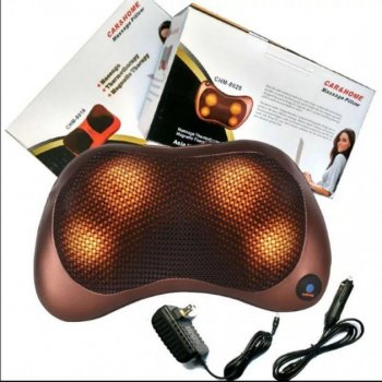 Массажная подушка CAR & HOME Massage Pillow 8028 с инфракрасным подогревом