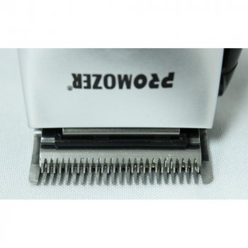 Машинка для стрижки PROmozer MZ-325 проводная с 4 насадками, расческой, ножницами Черно-серая (11184)