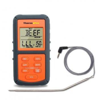 Термометр для мяса ThermoPro TP-06S (от -9 до +250°C) с выносным датчиком из нержавеющей стали (mdr_5162)