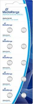 Литиевая батарейка для часов MediaRange AG1 LR621 1.5 В 10 шт (MRBAT110)