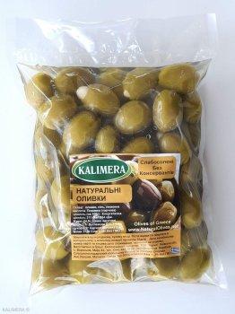 Оливки Kalimera Халкідікі фаршировані мигдалем 101-110, без кісточки, 560 г