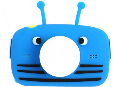 Силіконовий чохол для цифрового дитячого фотоапарата XoKo KVR-005/010/100 Синій Bee Dual Lens (9869201539969)