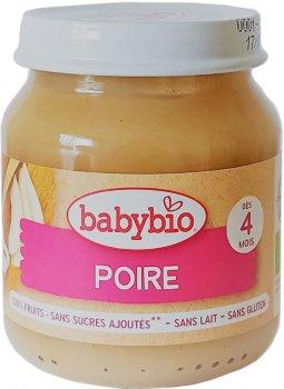 Упаковка дитячого пюре Babybio Органічного з груші з 4 місяців 130 г х 2 шт. (3288137510716_3288131510712)
