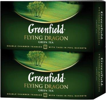 Упаковка чаю пакетованого Greenfield Flying Dragon 25 пакетиків х 2 шт. (4823096805139)
