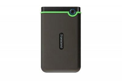 """Зовнішній жорсткий диск HDD 2.5"""" USB 3.1 2Tb Transcend StoreJet 25M3 Iron Slim Black/Green (TS2TSJ25M3S"""