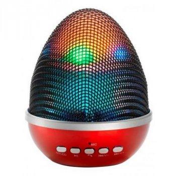 Портативна акумуляторна бездротова колонка WS-1802 з Bluetooth, FM-приймачем, Мікрофоном і зі світломузикою Червона (10167)