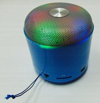 Портативна колонка WSTER WS-Y90B акумуляторна 3 Вт + мікрофон і гучномовець і FM радіо Синя (11051)