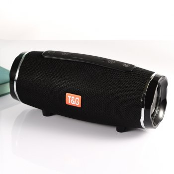 Бездротова колонка TG-145 з bluetooth акумуляторна (USB, MicroUSB, MicroSD, AUX) Чорна (11052)
