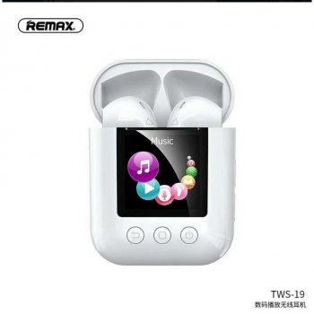Беспроводные Bluetooth наушники REMAX Digital Player TWS-19 |BT5.0, IPX4|