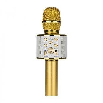 Безпровідний Мікрофон Караоке Колонка HOCO BK3 Gold