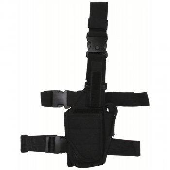Кобура для пистолета набедренная правосторонняя регулируемая MFH чёрная (30710A)