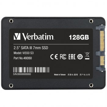 """Накопитель SSD 2.5"""" 128GB Verbatim (49350)"""