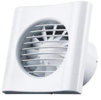 Вентилятор Домовент 125 ТИША (на подшипнике, обратный клапан, тихий)